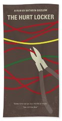 Hand Towel featuring the digital art No746 My The Hurt Locker Minimal Movie Poster by Chungkong Art