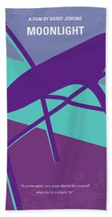 Bath Towel featuring the digital art No757 My Moonlight Minimal Movie Poster by Chungkong Art