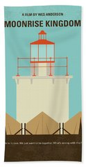 Bath Towel featuring the digital art No760 My Moonrise Kingdom Minimal Movie Poster by Chungkong Art
