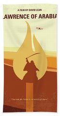 Bath Towel featuring the digital art No772 My Lawrence Of Arabia Minimal Movie Poster by Chungkong Art