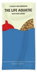 Bath Towel featuring the digital art No774 My The Life Aquatic With Steve Zissou Minimal Movie Poster by Chungkong Art