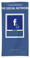 No779 My The Social Network Minimal Movie Poster Bath Towel