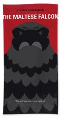 No780 My The Maltese Falcon Minimal Movie Poster Hand Towel