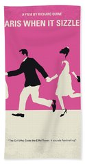 No785 My Paris When It Sizzles Minimal Movie Poster Hand Towel by Chungkong Art
