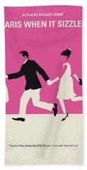 No785 My Paris When It Sizzles Minimal Movie Poster Hand Towel