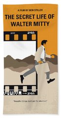 No806 My The Secret Life Of Walter Mitty Minimal Movie Poster Hand Towel