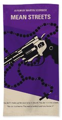 No823 My Mean Streets Minimal Movie Poster Bath Towel