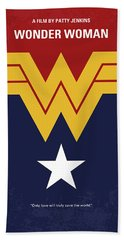 No825 My Wonder Woman Minimal Movie Poster Hand Towel