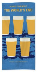 No843 My The Worlds End Minimal Movie Poster Bath Towel