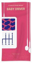 No872 My Baby Driver Minimal Movie Poster Hand Towel