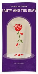 No878 My Beauty And The Beast Minimal Movie Poster Hand Towel