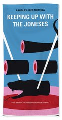 No922 My Keeping Up With The Joneses Minimal Movie Poster Bath Towel