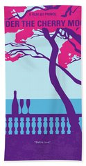 No933 My Under The Cherry Moon Minimal Movie Poster Bath Towel
