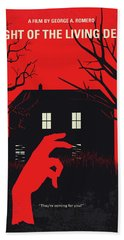No935 My Night Of The Living Dead Minimal Movie Poster Bath Towel