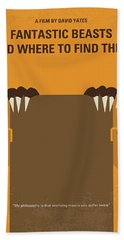 No962 My Fantastic Beasts And Where To Find Them Minimal Movie Poster Hand Towel