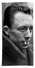Nobel Prize Winning Writer Albert Camus Paris, France, 1944 -2015 Hand Towel
