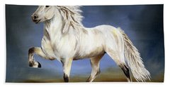 Nobility  Icelandic Horse Hand Towel by Shari Nees