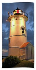 Nobska Point Lighthouse Hand Towel by Roupen  Baker