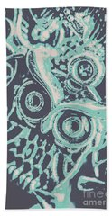 Nocturnal The Blue Owl Hand Towel