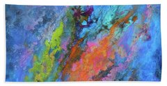 Nocturne Nebula Abstract Painting Bath Towel