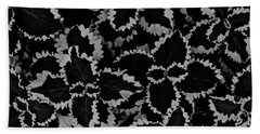 Noir Brocade Bath Towel by Tim Good
