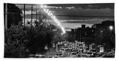 Noir City Hand Towel by Beto Machado