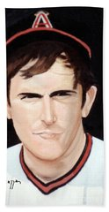 Nolan Ryan With The Angels Hand Towel