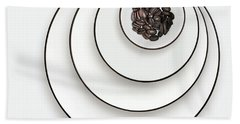 Nonconcentric Dishware And Coffee Bath Towel by Joe Bonita