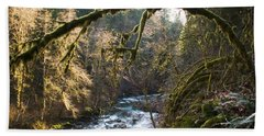 Hand Towel featuring the photograph Nooksack River by Yulia Kazansky