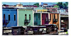 Norfolk Va - Train With Two Locomotives Hand Towel