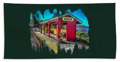Hand Towel featuring the photograph Norm Laknes Train Station by Thom Zehrfeld