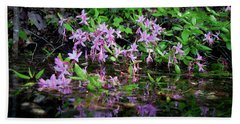Norris Lake Floral 2 Hand Towel by Douglas Stucky