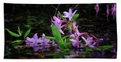 Norris Lake Floral Hand Towel by Douglas Stucky