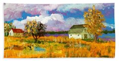 North Bank Of The White Oak River Bath Towel by Jim Phillips