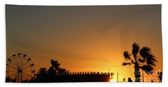 North Beach Sunset Hand Towel by Thomas OGrady