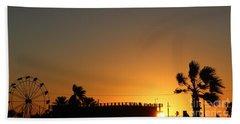 North Beach Sunset Bath Towel by Thomas OGrady
