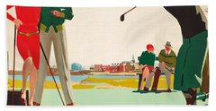 North Berwick, A London And North Eastern Railway Vintage Advertising Poster Bath Towel