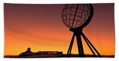 North Cape Norway At The Northernmost Point Of Europe Hand Towel by Ulrich Schade