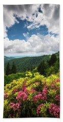 North Carolina Appalachian Mountains Spring Flowers Scenic Landscape Bath Towel