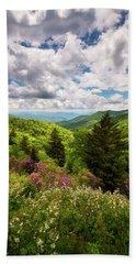 North Carolina Blue Ridge Parkway Scenic Landscape Nc Appalachian Mountains Hand Towel