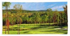 North Carolina Golf Course 14th Hole Hand Towel