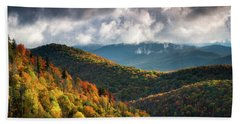 North Carolina Mountains Asheville Nc Autumn Sunrise Hand Towel