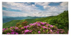 North Carolina Spring Flowers Mountain Landscape Blue Ridge Parkway Asheville Nc Hand Towel