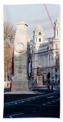 North Facade Of Cenotaph War Memorial Whitehall London Hand Towel