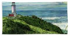 North Head Lighthouse And Beyond Hand Towel