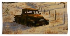 North Idaho Yard Art Bath Towel