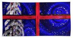 North Pole Lane By  Lisa Kaiser Hand Towel