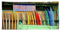 Hand Towel featuring the photograph North Shore Surf Shop 1 by Jim Albritton