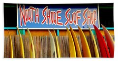 Hand Towel featuring the photograph North Shore Surf Shop 2 by Jim Albritton