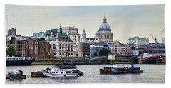 North Side Of The Thames Bath Towel